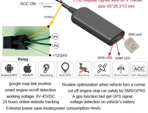 Satellite GPS Trackers 6V To 45VDC For Motorcycle,Car