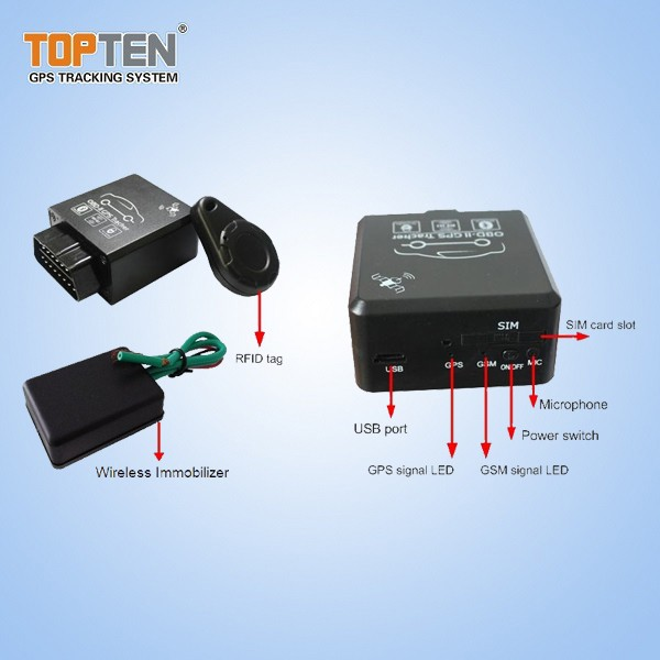 J1939 OBD-II GPS Tracker with Diagnosis for Truck & Cars - GPS